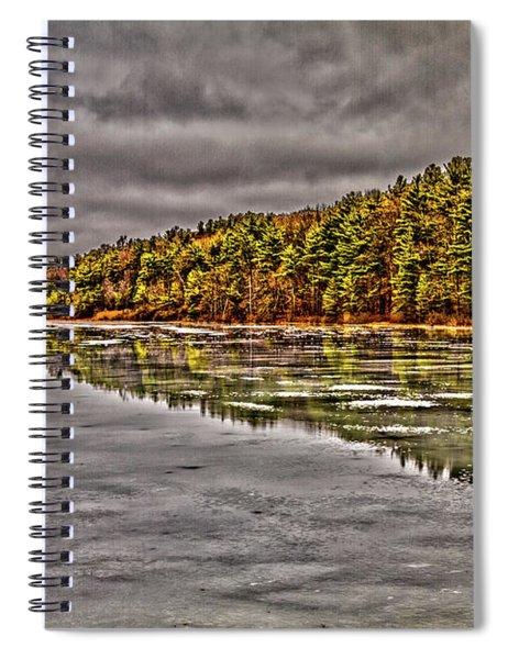 Winter At Pine Lake Spiral Notebook
