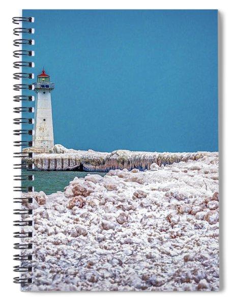 Winter At Sodus Point  Spiral Notebook