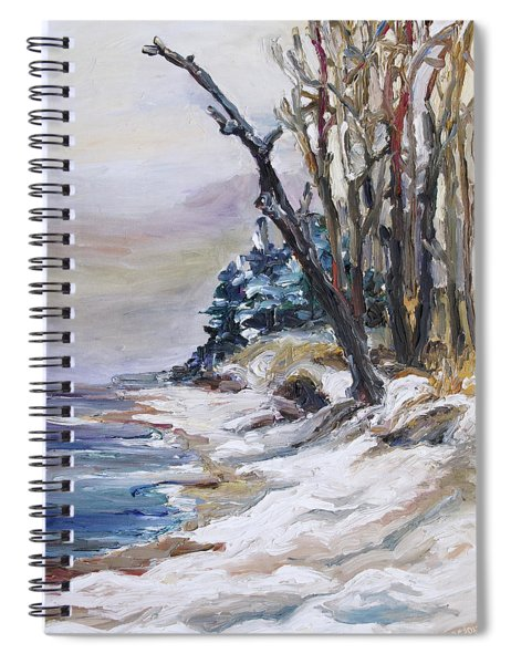 Winter At The Baltic Sea  Spiral Notebook