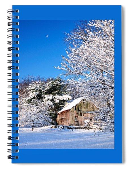 Winter Barn Scene-warren Ct Spiral Notebook