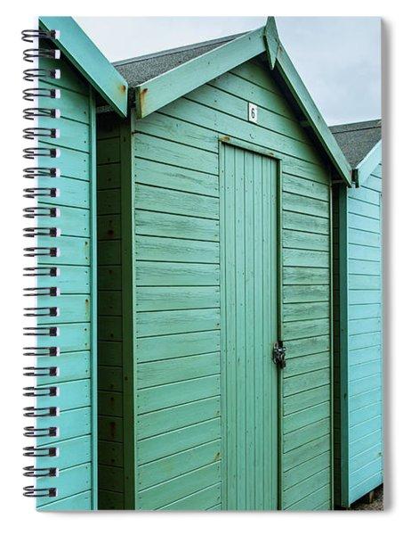 Winter Beach Huts IIi Spiral Notebook