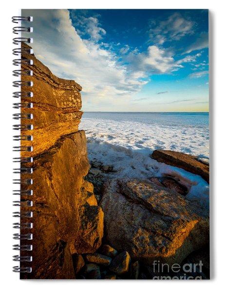 Winter Beach Sunset Spiral Notebook