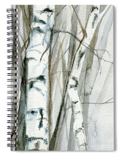 Winter Birch Spiral Notebook