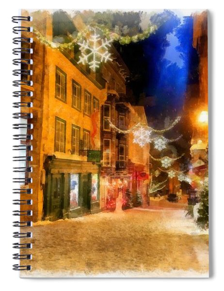 Winter Carnival Old Quebec City Lower Town Spiral Notebook