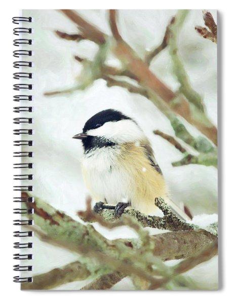 Winter Chickadee Spiral Notebook