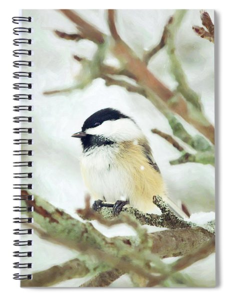 Winter Chickadee Spiral Notebook