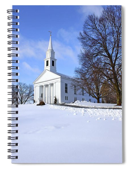 Winter Church Spiral Notebook