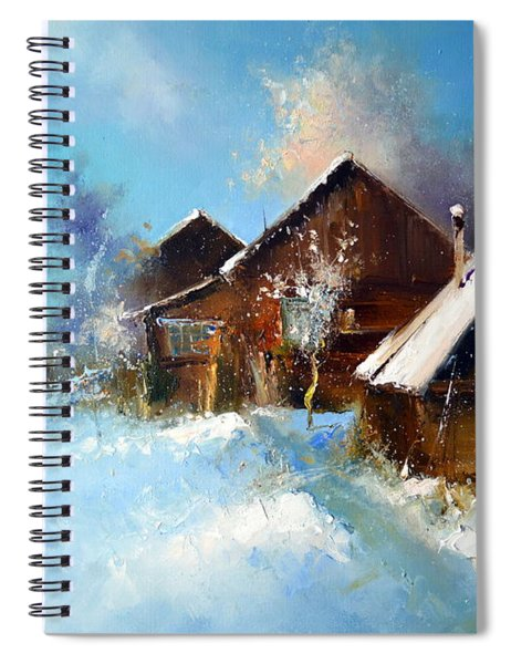 Winter Cortyard Spiral Notebook