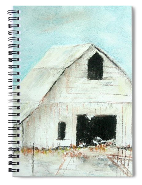 Winter Country Barn Spiral Notebook