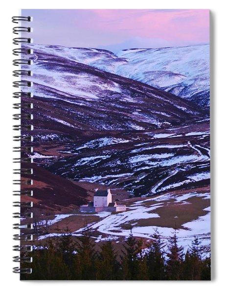 Winter Dusk At Corgarff Spiral Notebook