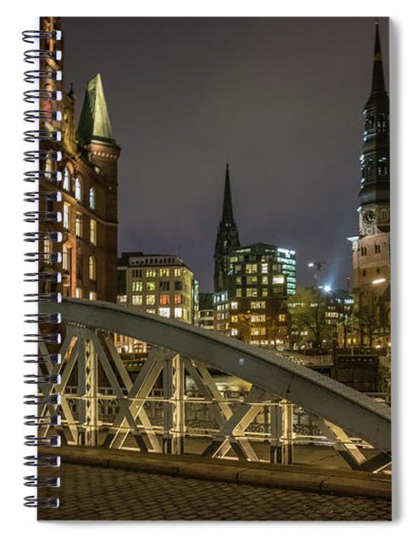 Winter Evening In Hamburg  Spiral Notebook