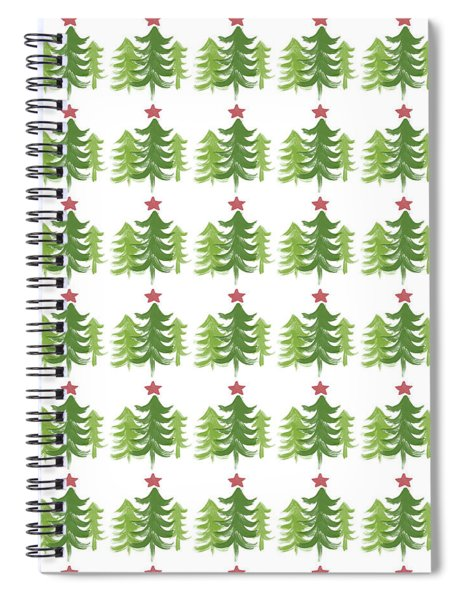 Winter Holiday Trees 1-  Art By Linda Woods Spiral Notebook