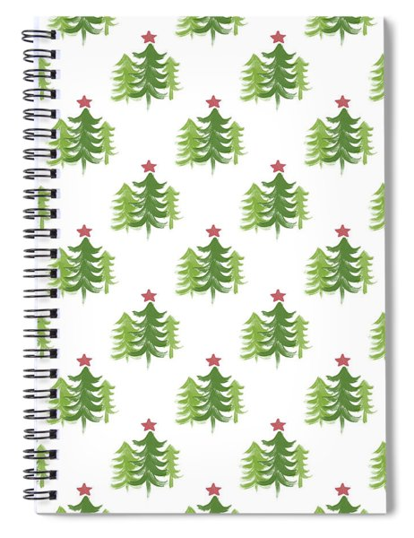 Winter Holiday Trees 2- Art By Linda Woods Spiral Notebook