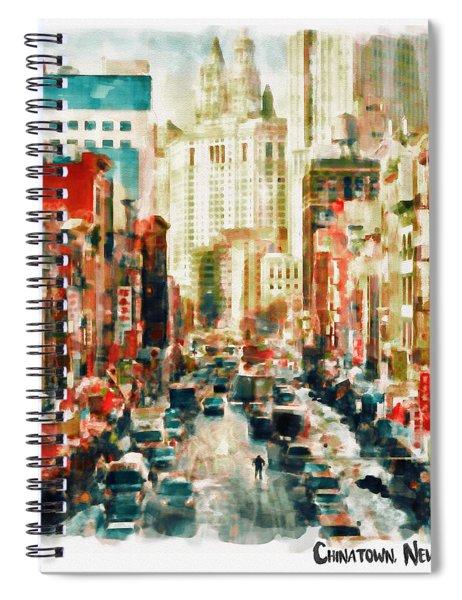 Winter In Chinatown - New York Spiral Notebook