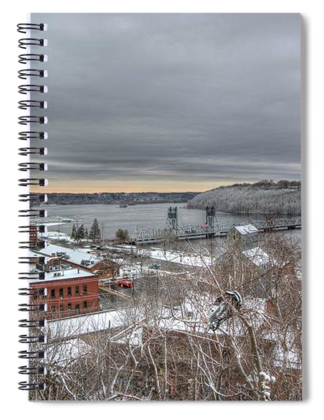 Winter In Downtown Stillwater Spiral Notebook