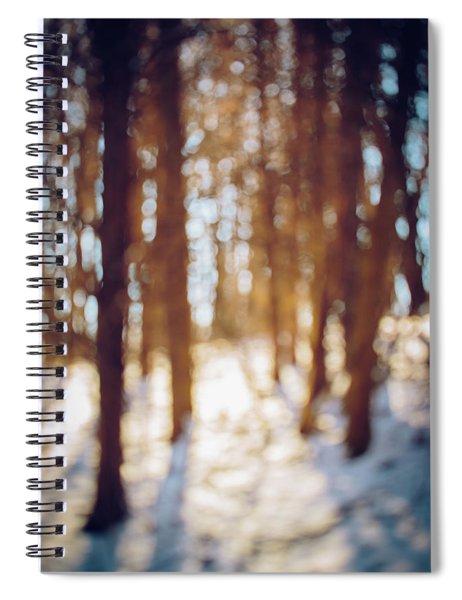 Winter In Snow Spiral Notebook