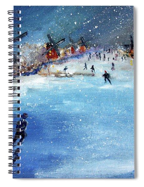Winter In The Netherlands Spiral Notebook