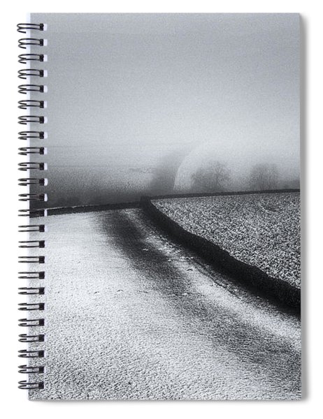 Winter In The Peaks No 1 Spiral Notebook