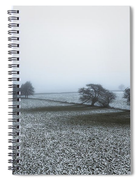 Winter In The Peaks No 2 Spiral Notebook