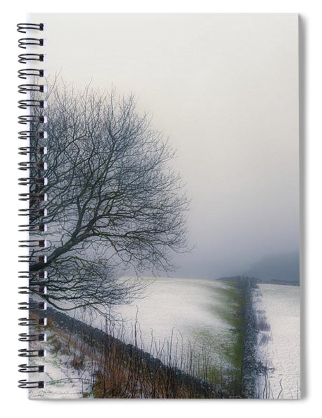Winter In The Peaks No 6 Spiral Notebook
