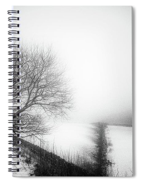 Winter In The Peaks No 6 Mono Spiral Notebook