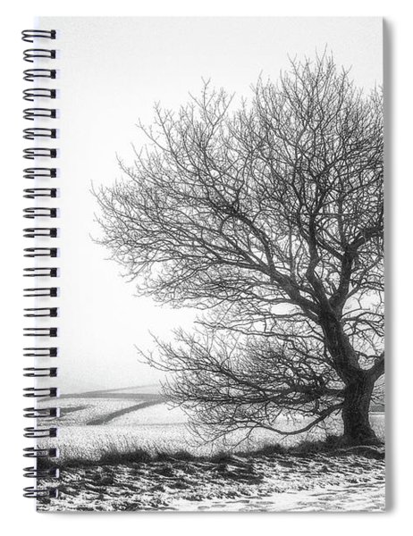 Winter In The Peaks No 7.tif Spiral Notebook