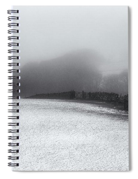 Winter In The Peaks No 8 Mono Spiral Notebook