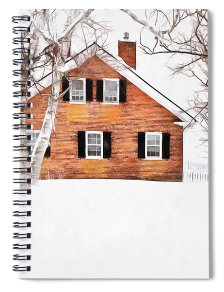 Winter In The Upper Valley Spiral Notebook