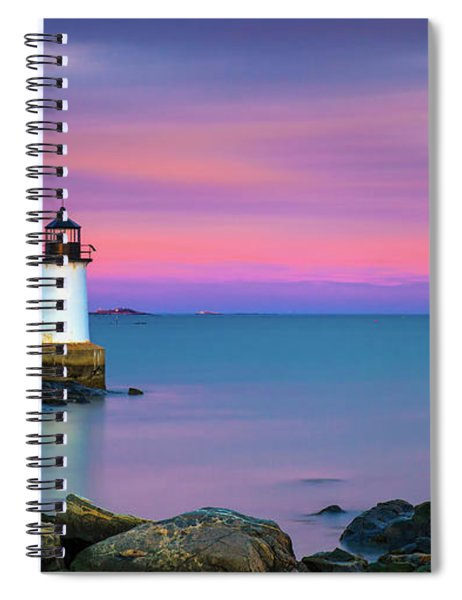 Winter Island Light 1 Spiral Notebook