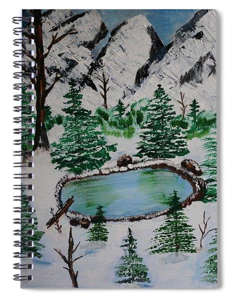 Winter Spiral Notebook