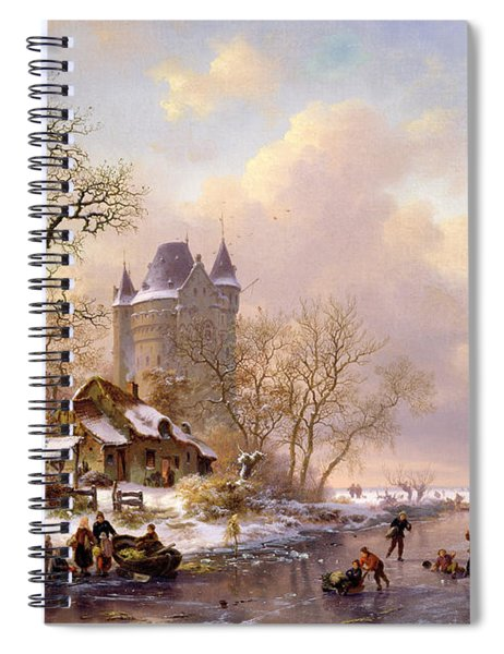 Winter Landscape With Castle Spiral Notebook