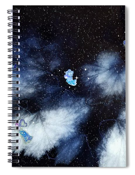 Winter Leaves And Fairies Spiral Notebook