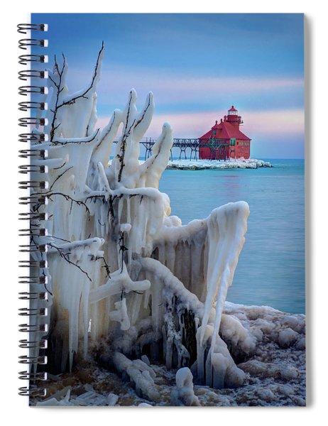 Winter Lighthouse Spiral Notebook