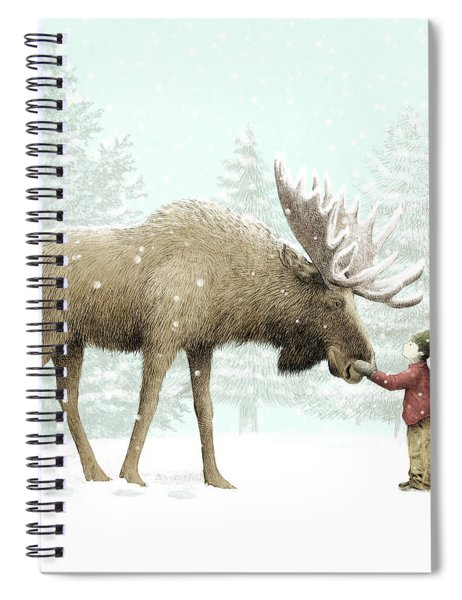 Winter Moose Spiral Notebook by Eric Fan
