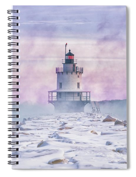 Winter Morning At Spring Point Ledge Spiral Notebook
