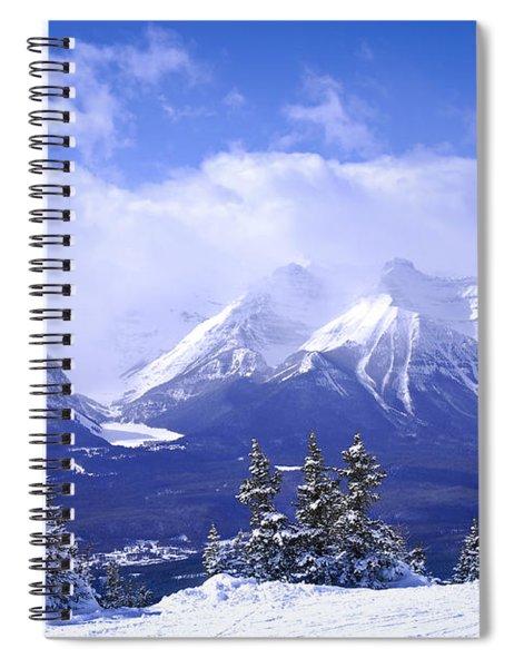 Winter Mountains Spiral Notebook
