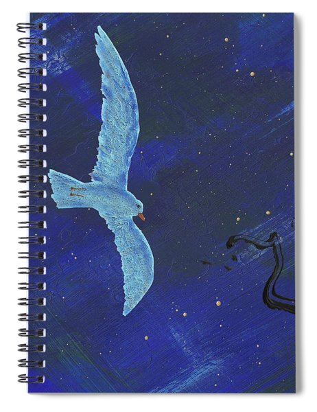 Spiral Notebook featuring the painting Winter Night by Manuel Sueess