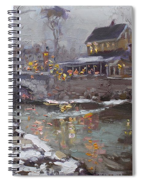 Winter Nocturne In Williamsville Spiral Notebook