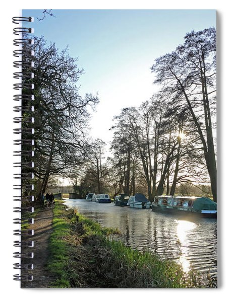 Winter On The River Wey At Send Surrey Spiral Notebook