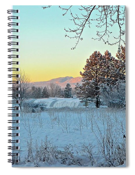Winter On The Tree Farm Spiral Notebook