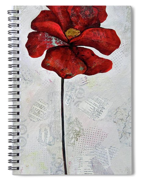 Winter Poppy I Spiral Notebook