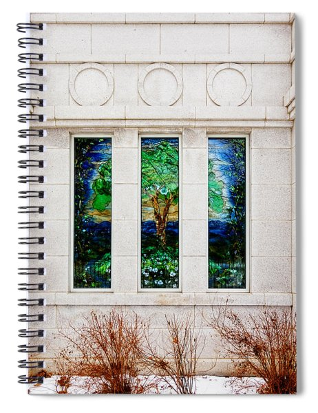 Winter Quarters Temple Tree Of Life Stained Glass Window Details Spiral Notebook