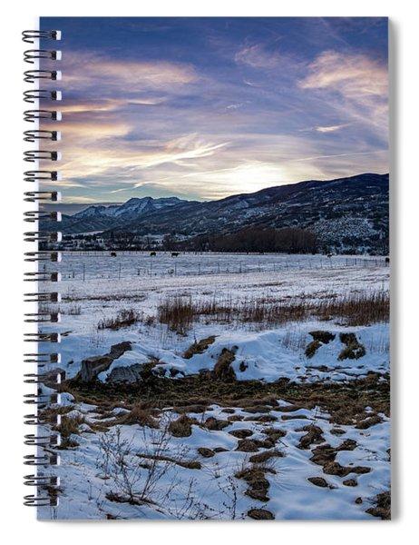 Sunset Range Spiral Notebook