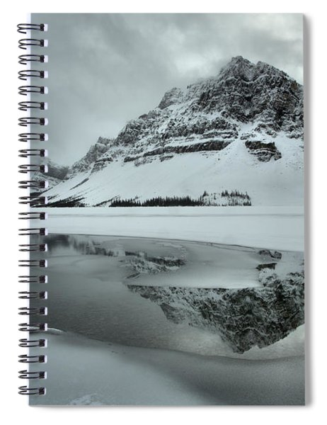 Winter Reflections In Bow Lake Spiral Notebook