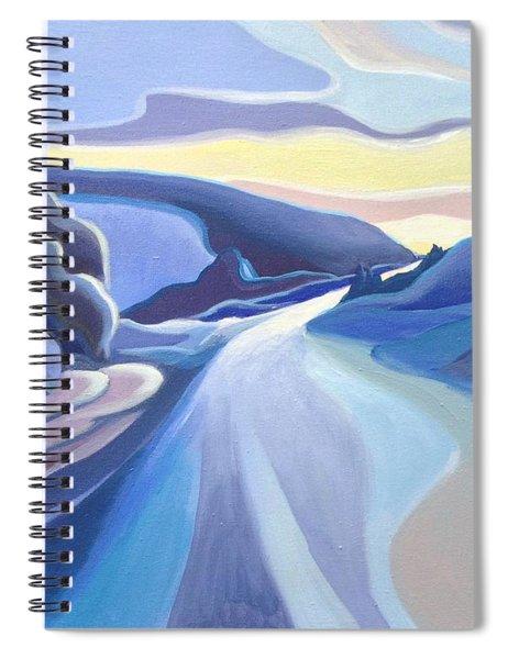 Winter Road Spiral Notebook