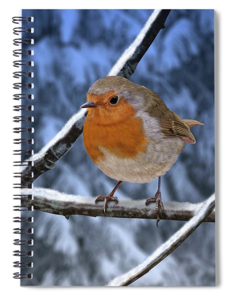 Winter Robin Spiral Notebook