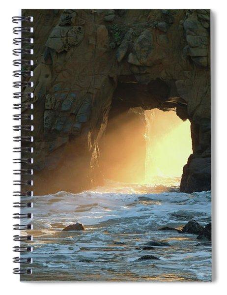 Winter Solstice Sunset In Big Sur Spiral Notebook
