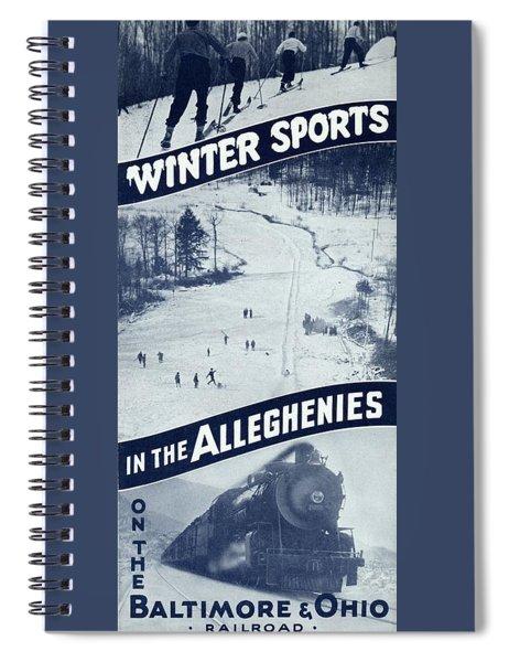 Winter Sports In The Alleghenies Spiral Notebook