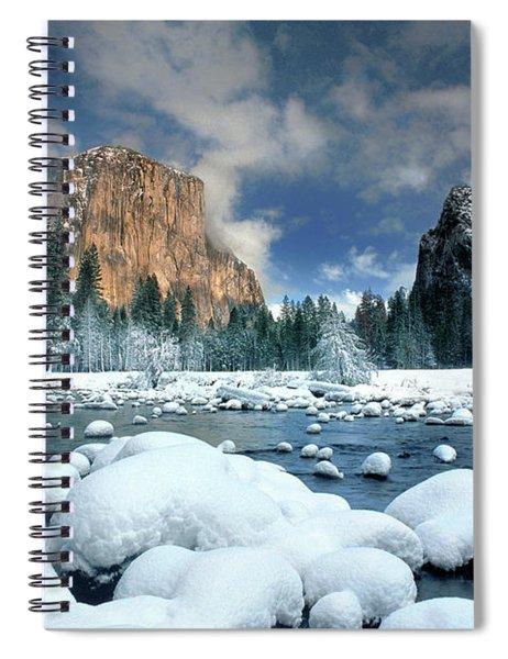 Winter Storm In Yosemite National Park Spiral Notebook