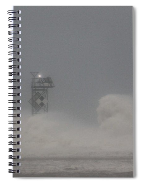 Winter Storm Jonas Swamps The Jetty Spiral Notebook